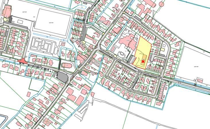 Afbeelding van de kerklocatie aan de Burgemeester Kooimanweg in Hensbroek