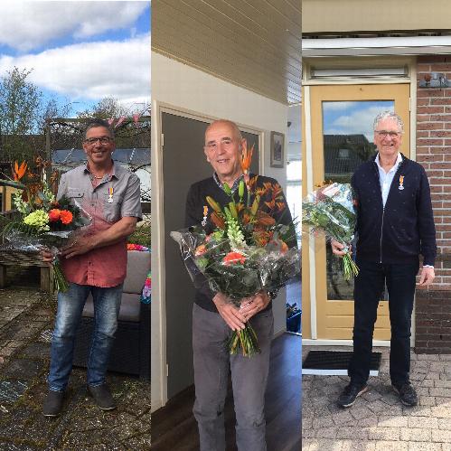 Van links naar rechts de heer De Boer, de heer Vlaar en de heer Otten